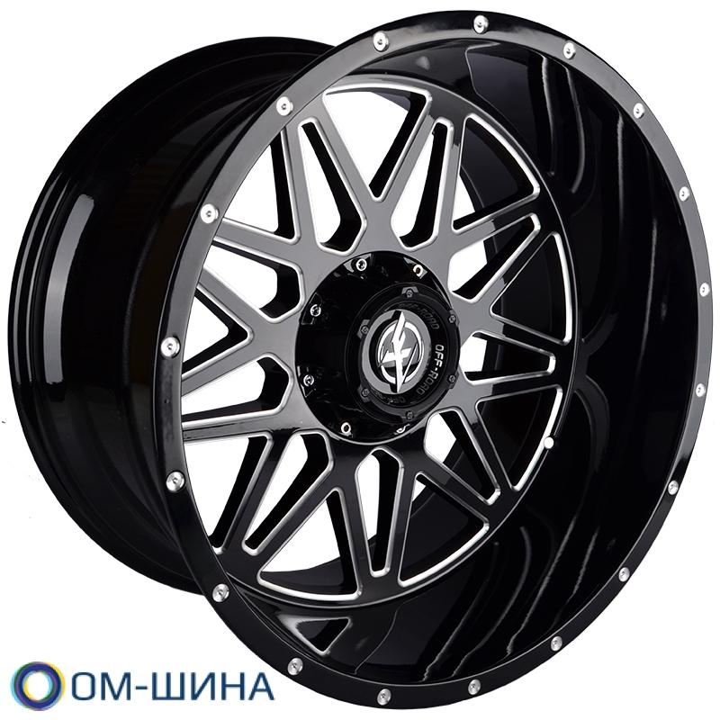 Zumbo Wheels XF-211 12x22 6x135/139.7 D108 ET-44 Gloss Black Milled